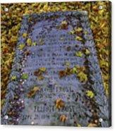 Robert Frosts Grave Acrylic Print