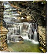 Robert H. Treman State Park Gorge Upper Falls Acrylic Print