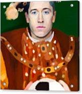 Robert Lewandowski As King Of Soccer Acrylic Print