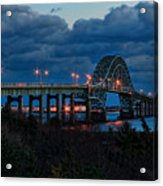 Robert Moses Bridge At Dusk Acrylic Print