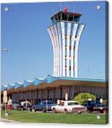 Robert Mueller Municipal Airport And Control Tower, Austin, Texas Acrylic Print