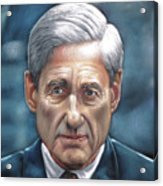 Robert Mueller Portrait , Head Of The Special Counsel Investigation Acrylic Print