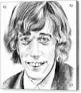 Robin Gibb Drawing Acrylic Print