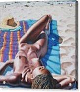 Robin At The Beach Acrylic Print