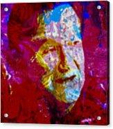 Robin Williams Paint Splatter Acrylic Print