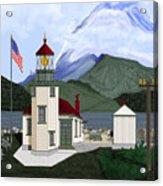 Robinson Point With Mount Rainier Acrylic Print