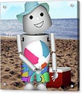 Robo-x9 At The Beach Acrylic Print
