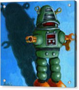 Robot Dream - Realism Still Life Painting Acrylic Print by Linda Apple