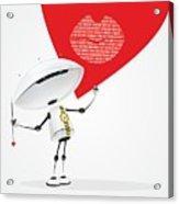 Robot Romantic Acrylic Print