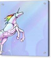 Robot Unicorn Attack Acrylic Print