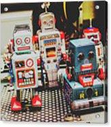Robots Of Retro Cool Acrylic Print
