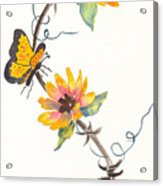 Robyn's Sunflowers Acrylic Print