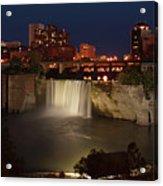 Rochester Falls At Dusk Acrylic Print