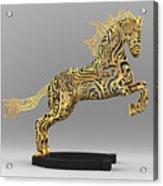 Rocinante Bronze Sculpture Acrylic Print