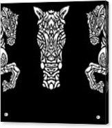 Rocinante Horses - Black And White Acrylic Print
