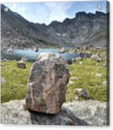 Rock At Abyss Lake Acrylic Print