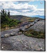 Rock Boundaries On Casecade Mountain Keene Ny New York Acrylic Print