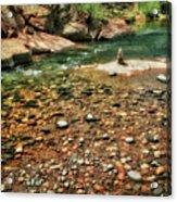 Rock Cairn At Buddha Beach - Sedona Acrylic Print