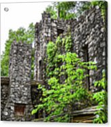 Rock Castle Fireplace Acrylic Print