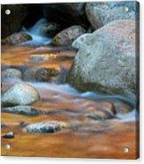 Rock Cave Reflection Nh Acrylic Print