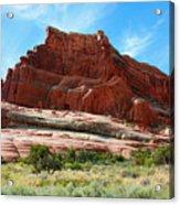 Rock Formation Of La Sal Mountains Acrylic Print