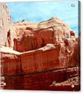 Rock Formation Of Red Sandstone Arches National Park Acrylic Print