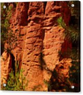 Rock Formations Created By Erosion Acrylic Print