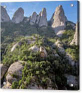 Rock Formations Montserrat Spain Acrylic Print