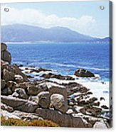 Rock Formations On The Coast, 17-mile Acrylic Print