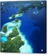 Rock Islands Aerial Acrylic Print