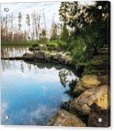 Rock Lined Pond Acrylic Print