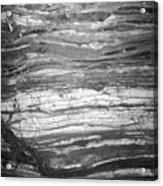 Rock Lines B W Acrylic Print