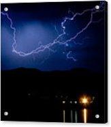 Rock Mountains Foot Hills Lightning Storm Acrylic Print