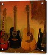 Rock N Roll Guitars Acrylic Print