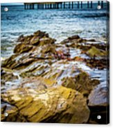 Rock Pier Acrylic Print