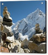 Rock Piles In The Himalayas Acrylic Print