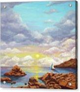 Rock Pools, Seascape Acrylic Print