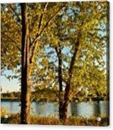 Rock River In October Acrylic Print