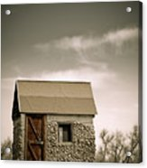 Rock Shed Acrylic Print