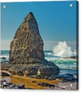 Rock Stack On The Costa Viicentina, Portugal Acrylic Print