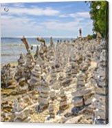 Rock Structures On Lake Michigan Acrylic Print