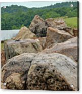 Rock Wall Acrylic Print