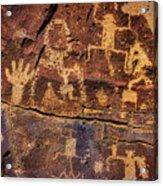 Rock Wall Of Petroglyphs Acrylic Print