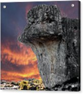 Rock Wallpaper Acrylic Print