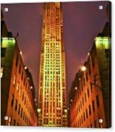 Rockefeller Center Acrylic Print by Evelina Kremsdorf