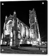 Rockefeller Chapel - B And W Acrylic Print