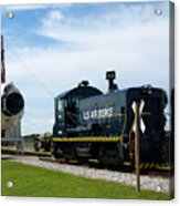Rocket Locomotive At Cape Canaveral In Florida Acrylic Print