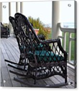 Rocking Chairs On The Porch Acrylic Print