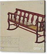 Rocking Settee Cradle Acrylic Print