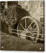 Rockland Grist Mill - Sepia Acrylic Print